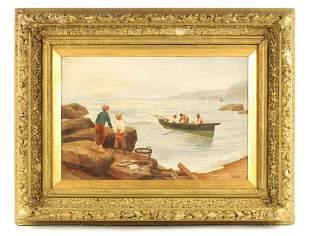 R DOUGLAS AN EARLY 20TH CENTURY OIL ON CANVAS Co