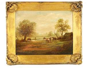 D. SHERRIN A 19TH CENTURY OIL ON CANVAS depicting