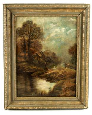 W PALMER AN EARLY 20TH CENTURY OIL ON CANVAS depi