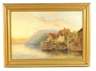 WILLIAM LANGLEY A LATE 19TH CENTURY OIL ON CANVAS