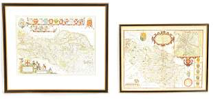 A JOHN SPEEDE 1610 MAP of the WEST RIDING OF YORKS