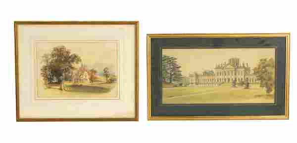 ALFRED GILL A 19TH CENTURY WATERCOLOUR depicting