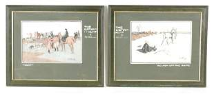A SET OF FOUR EARLY 20TH CENTURY HUNTING PRINTS af