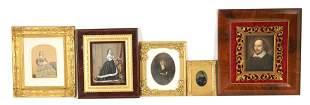 A SELECTION OF FIVE VICTORIAN PORTRAIT PRINTS moun