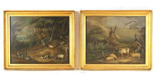 A PAIR OF 19TH CENTURY SAND PICTURES IN THE MANNER