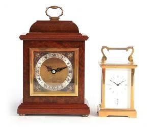 TWO 20TH CENTURY CLOCKS BY GARRARD, LONDON the fir