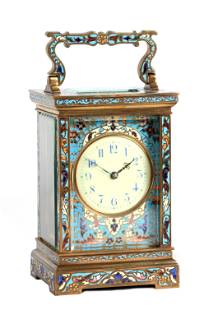 A LATE 19TH CENTURY FRENCH CHAMPLEVE ENAMEL STRIKI