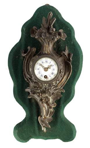 A LATE 19TH CENTURY FRENCH MINIATURE CARTEL CLOCK