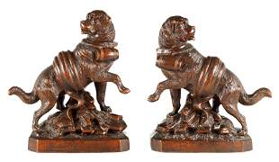 A GOOD QUALITY PAIR OF LATE 19TH CENTURY BLACK FOR