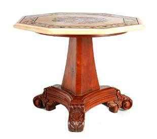 A MINIATURE REGENCY STYLE OCCASIONAL TABLE the oct