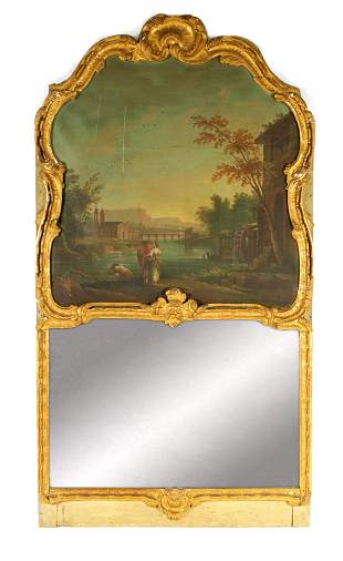 AN EARLY 18TH CENTURY CONTINENTAL GILTWOOD ROCOCO