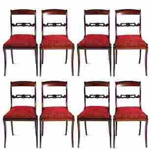 A SET OF EIGHT REGENCY ROSEWOOD DINING CHAIRS havi