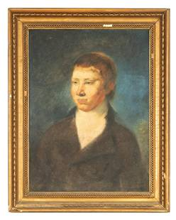 AN 18TH CENTURY PASTEL ON PAPER - PORTRAIT OF A YOUNG