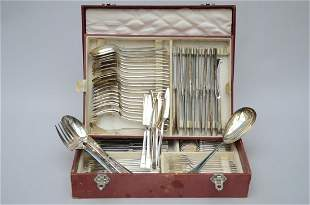 Cutlery set in silver plated metal by Christofle 'model