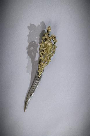 Indian Bichawa dagger decorated with Yali South India