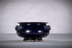 Fahua incense burner in Chinese porcelain Kangxi period