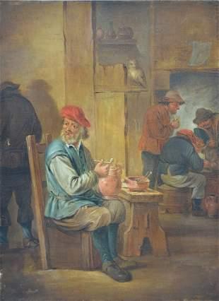 Anonymous (19th century): painting (o/c) 'interior