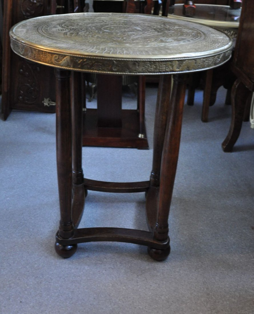 Asian round tea table in wood