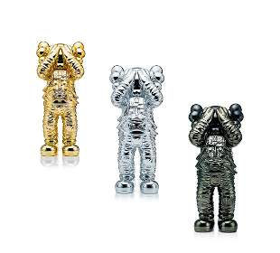 Kaws: Holiday Space (Glod, Silver, Black), 2020