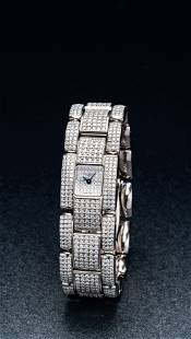 A Very Fine White Gold and Diamond-Set Bracelet Watch