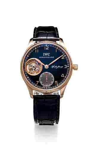 A Limited Edition Rose Gold Tourbillon Mechanical Watch