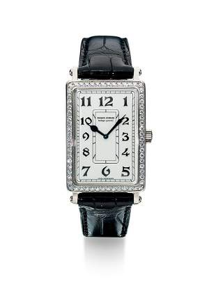 A Fine White Gold and Diamond-set Watch