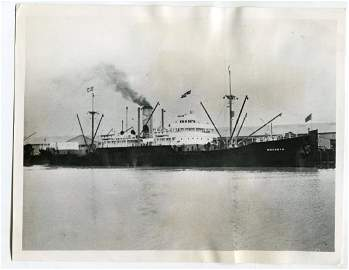 1939 U.S. Freighter Wacosta. Stopped by German Sub