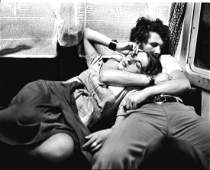 Couple N.Y Train Photo