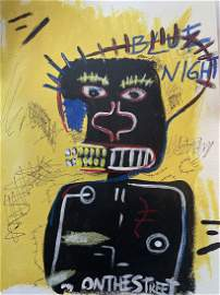 Jean Michel Basquiat Painting on Paper