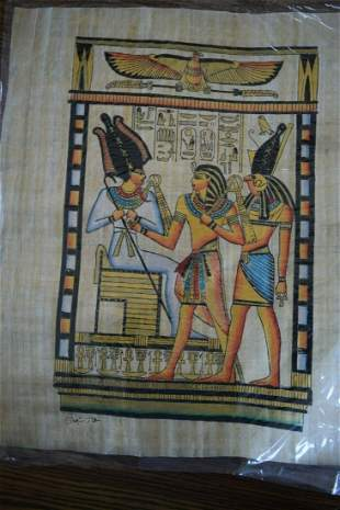 Egyptian Art on Authentic Papyrus