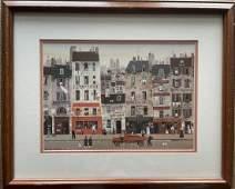 Michel Delacroix Paris Painting Framed Signed Matted