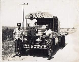 1950s Original Vintage Cuban Photo OK Chevrolet Moving
