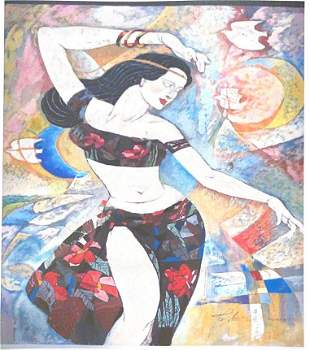 Li Zhong Liang Painting on Paper