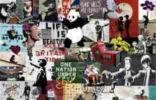 Graffiti Street Art Collage on Canvas