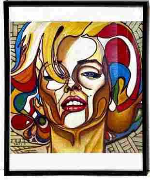 Framed Marilyn Monroe Pop Art Print