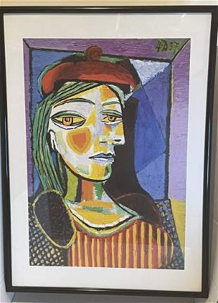 Pablo Picasso Woman In The Red Beret Print