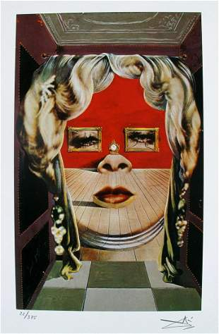Salvador Dali MAE WEST FACE Facsimile Signed & Numbered