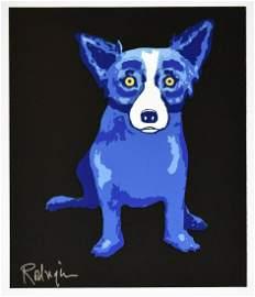George Rodrigue Blue Dog Canvas Print
