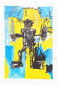 Media Basquiat on Paper ( In Style Of)