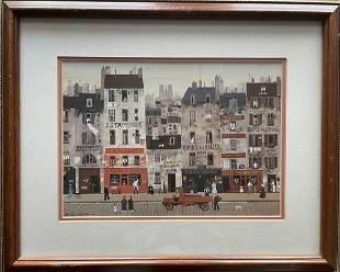 Michel Delacroix (French 20th C) Photolithograph