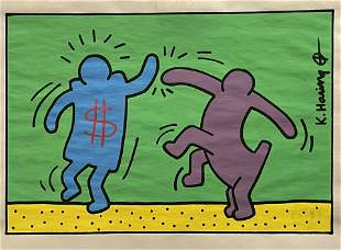 Keith Haring- Drawing and Watercolor (In Style Of)