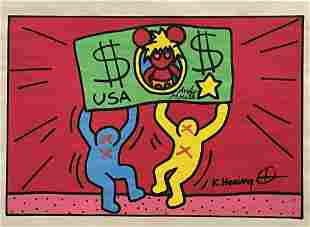 Keith Haring- Drawing and Watercolor(In Style Of)