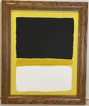 Mark Rothko -American Abstract Mixed Media on Canvas