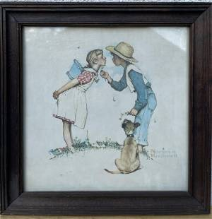 NORMAN ROCKWELL- BEGUILDING BUTTERCUP Print