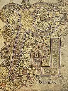 Book of Kells. The Birth of Christ. Framed Print