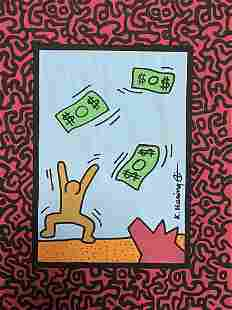 Keith Haring Drawing Pop Art