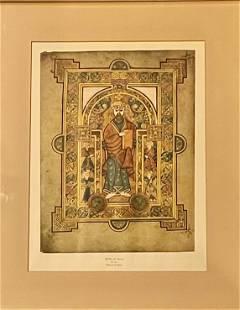 Portrait of Christ, The Book of Kells: Print