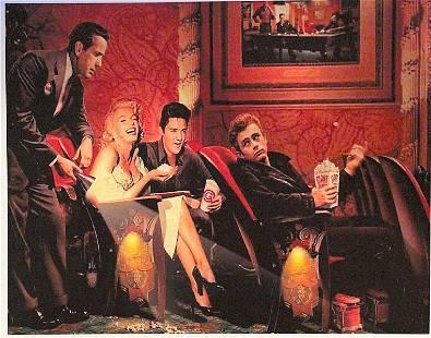 Marilyn M.- Elvis P.- James D.,. Print