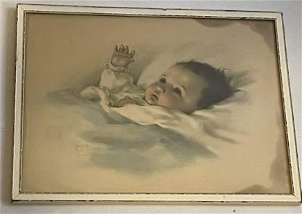 Awakening Antique Print by Bessie Pease Gutmann