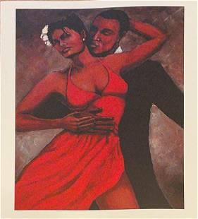 Fantasy in Red - Monica Stewart- Print on Paper
